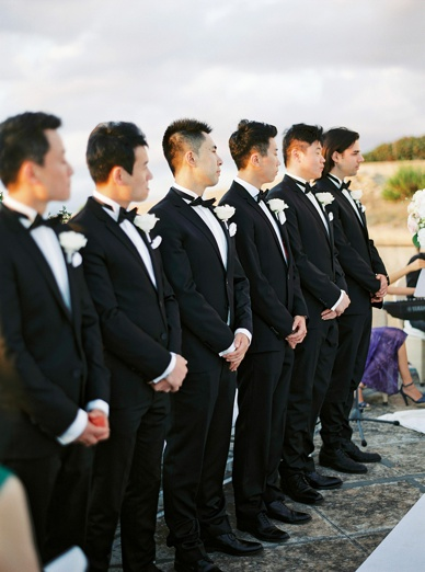 Groomsmen at Sunset Ceremony Mallorca