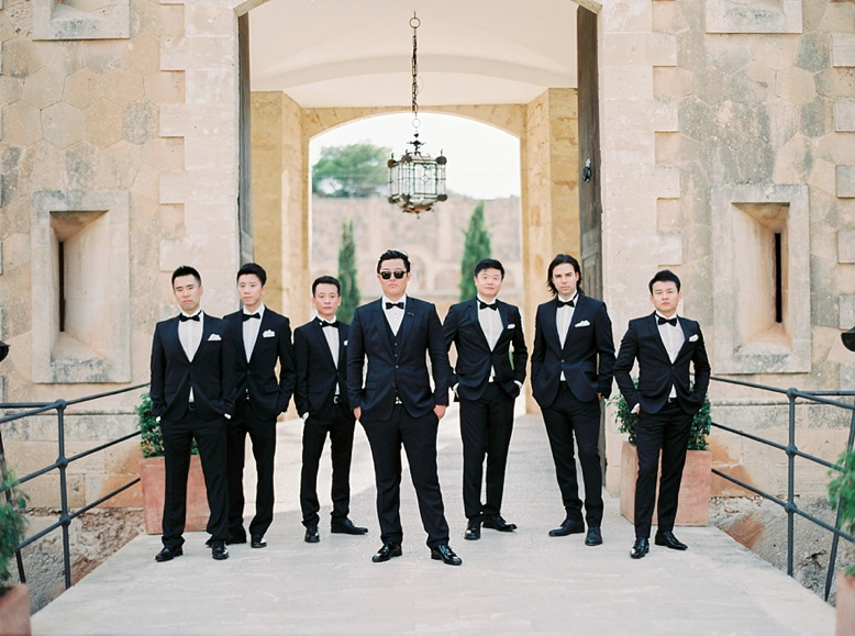 Groomsman at Cap Rocat Wedding