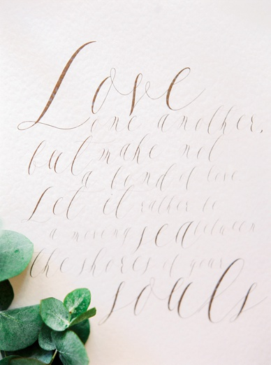 Love quote wedding details