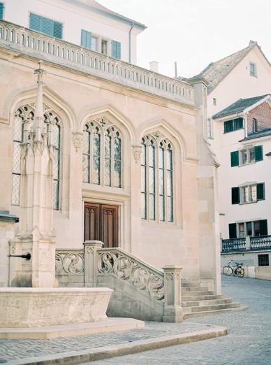 Zurich destination wedding chapel ceremony location Switzerland gorgeous downtown chapel Kulturhaus Helferei