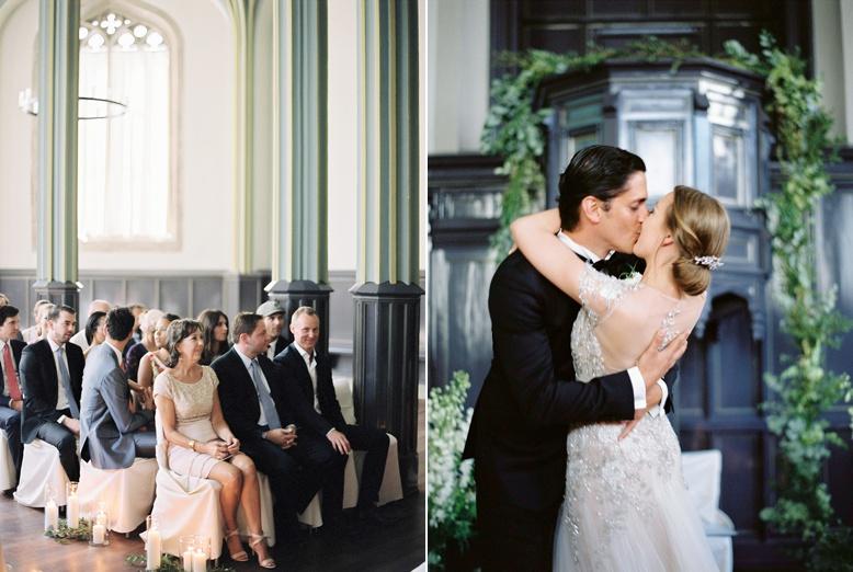 Elegant civil ceremony setting in Zurich Switzerland, Schweiz Hochzeit Kappelle