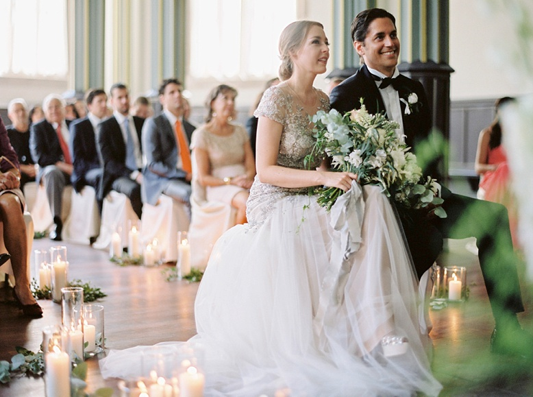 Perfect civil ceremony setting at this stunning Zurich Wedding captured by Peaches & Mint