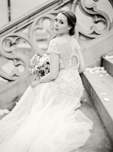 Beautiful bride in Inbal Dror wedding dress