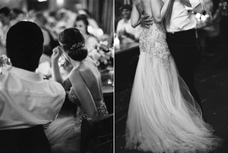 Timeless black and white wedding photography by peachesandmint.com