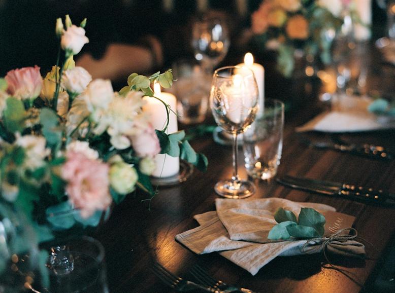 Zurich destination wedding rustic table setting at Adlisberg Restaurant
