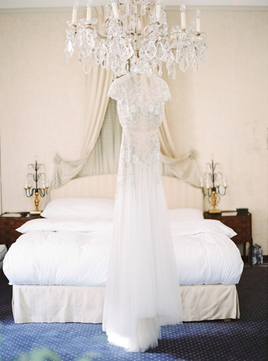 Inbal Dror wedding dress at Zurich destination wedding Hotel Europe Zurich
