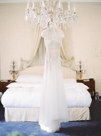 Inbal Dror wedding dress at Zurich destination wedding Hotel Europe Zurich