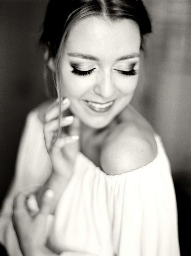 Beautiful Make-up & Hair Sinem Yavsaner for Zurich destination wedding bride