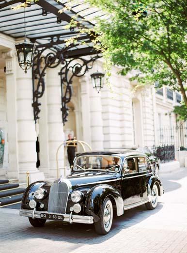 Vintage getaway car + vintage wedding car | Fine art film photographer Peaches & Mint