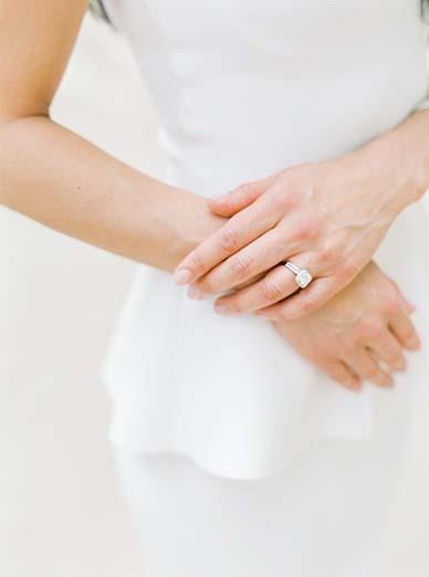 Engagement ring shot in this destination wedding in Paris | Fine art film photographer Peaches & Mint
