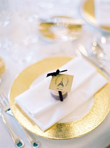 Paris themed wedding favors in this elegant destination wedding | Fine art film wedding photographer Peaches & Mint