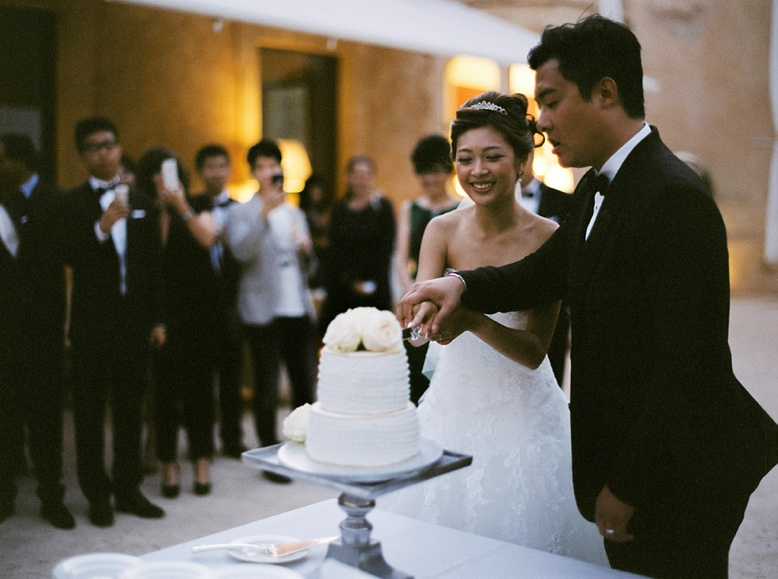 Cake Cutting at Destination Wedding Mallorca