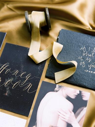 Italian Glamour Boudoir Inspiration Stationery Set by Susanne Bühler