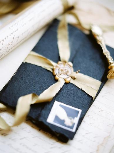 Luxurious Black & Gold Stationery Inspiration Fine Art Photography