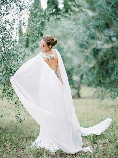 She's beyond words... Beautiful olive grove wedding inspiration by Peaches & Mint, Dress Twobirds, Cape Gibson Bespoke, Styling Comme Soie