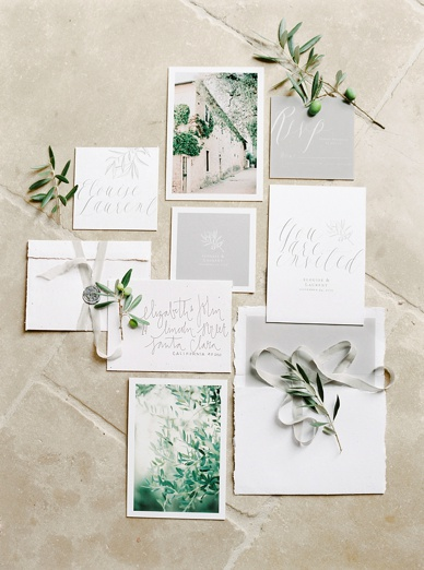 Olive Grove Stationery Suite by Susanne Bühler Graphic Design, Tuscany Wedding Inspiration Finest Film Wedding Photography Europe