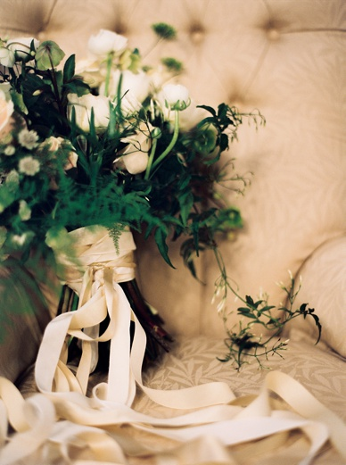 The Informal Florist winter wedding bouquet