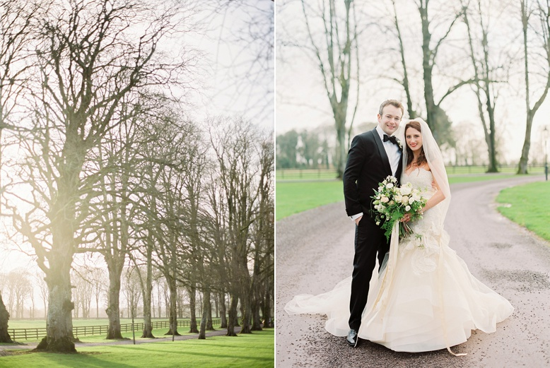 Bride & Groom at Tankardstown House Irish Luxury Weddings