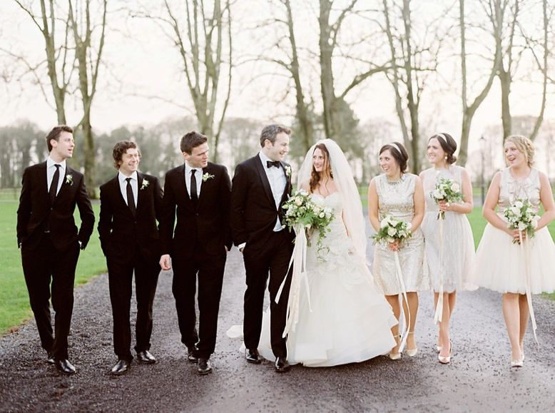 Bridal Party at Irish Destination wedding Tankardstown House