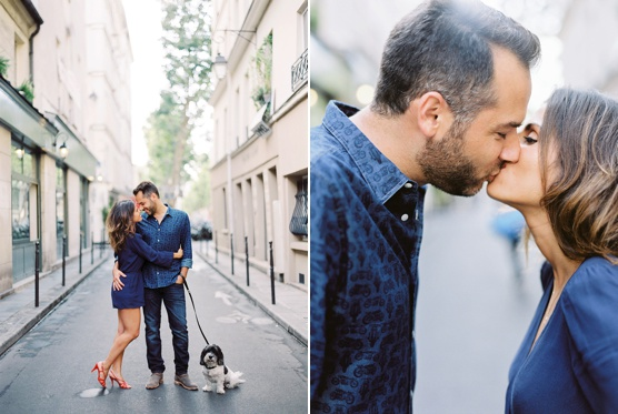 Paris couple session with talented film wedding photographer Greg Finck and his girlfriend bridal designer Rime Arodaky